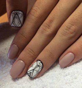 Покрытие ногтей гель-лак (ручки, ножки)