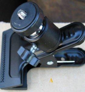 Крепление прищепка для экшн-камер и фотоаппаратов