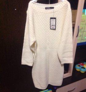 Новое,Вязаное платье