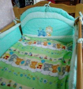 Кроватка детская маятник