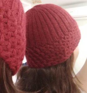 Вязаный комплект — снуд и шапка