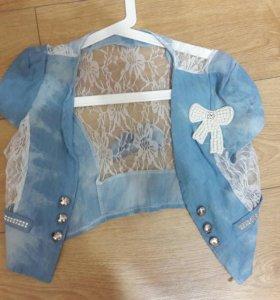 Джинсовая накидка пиджак