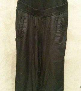 Зимние болоневые штаны на флисе для беременных
