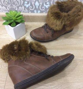 Ботинки меховые