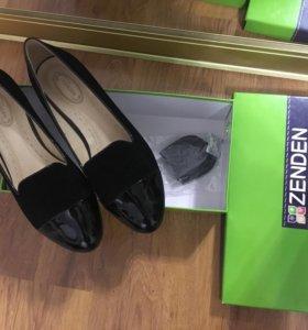 Новые туфли лоферы балетки р-р 38