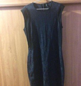 Платье темно-синее новое