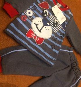 Продам новый костюм для мальчика утеплённый, р74