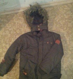 Куртка + шапка на мальчика