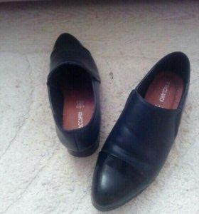 Туфли кожаные женские