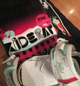 женский сноуборд RIDE(+крепления+ботинки+чехол)