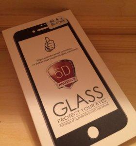 Закаленное стекло 5d на iPhone 6,чёрное