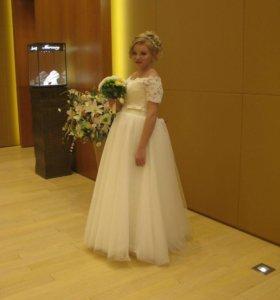 Свадебное платье + балеро