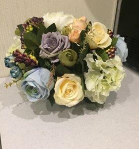 Букет из декоративных цветов