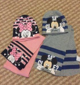 Набор шапки+шарфы