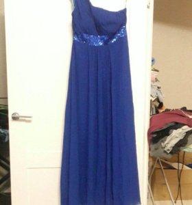 вечернее длинное синее платье TobeBride