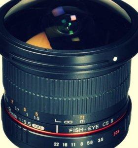 Samyang 8mm f/3.5 AS IF UMC Fish-eye CS II Canon E