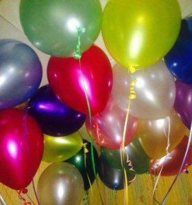Воздушные шарики перламутр или металл с блеском
