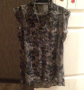 Женская кофта рубашка блуза шифоновая 44-46 размер