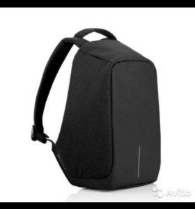Новый рюкзак bobby черный с usb + mp3 плеер