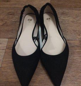 Новые туфли, балетки H&M 39 размер
