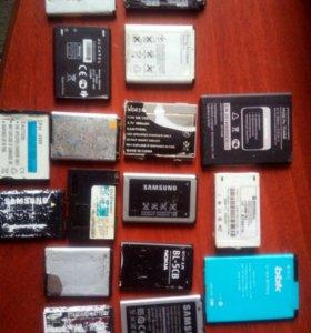 Аккумуляторы на телефоны и запчасти