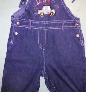 Комбинезоны джинсовые : один новый, другой бу 1раз