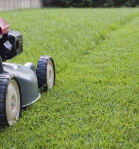 Стрижка газона, покос травы, аэрация, вертикуттер