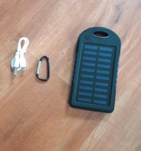 Power bank на солнечных батарейках 5000 mah