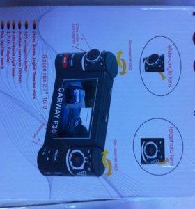 Видеорегистратор с двумя камерами.Новый в упаковке