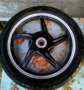Новое колесо на ттр125
