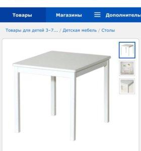 Столик и стульчик синего цвета для ребёнка