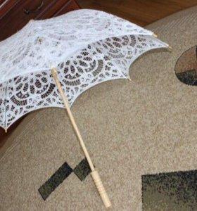 Свадебный зонт и веер