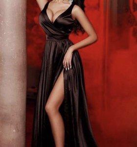 Шикарное платье красное и чёрное новые