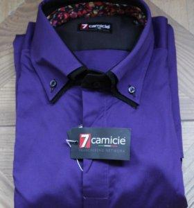 Рубашка мужская фиолетовая 7camicie