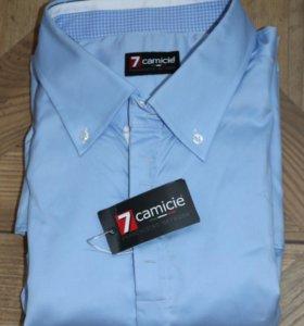 Мужская голубая рубашка 7camicie