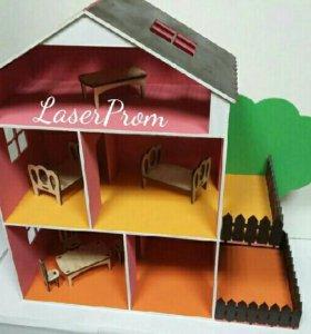 Кукольный домик. Для детей. Мебель в подарок