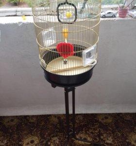 Клетка для попугаев ferplast на подставке