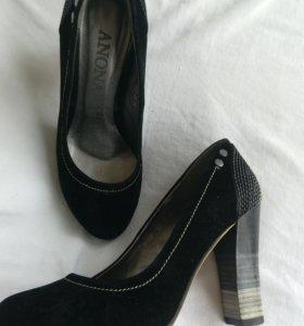 Туфли женские, размер 35,замша