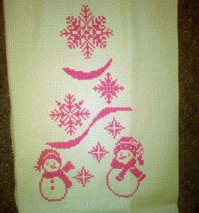 Снеговики крестиком