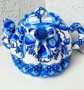 Чайник текстильный под гжель