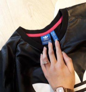Кожаный Свитшот Adidas