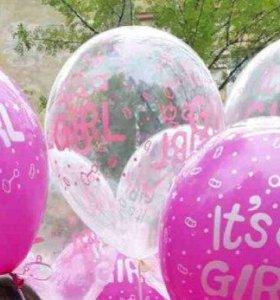 Воздушные шары для новорожденной.