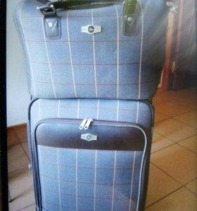 чемодан дорожный+сумка