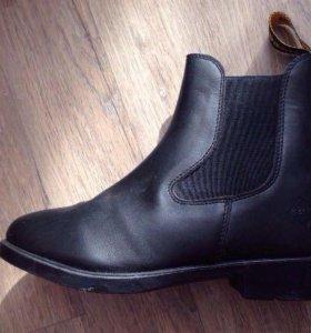 Новые Ботинки для верховой езды, кожа, черные