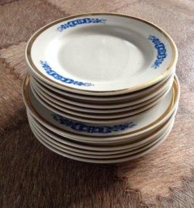 Набор тарелок гжель СССР