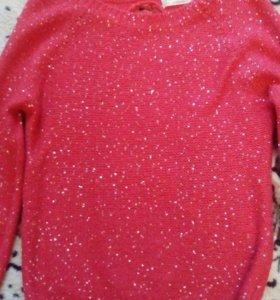 Яркий нарядный женский свитер б/у