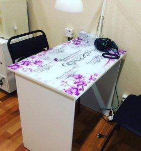 Стол Маникюрный стол с promo столешницей
