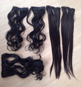 Волосы для наращивания на типсах