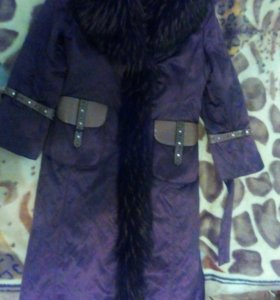 Зимнее натуральное пальто