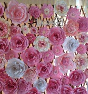 Цветы из бумаги из тюли украшения для прсздника